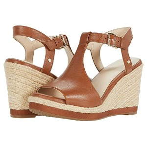 Cole Haan Cloudfeel Espadrille Wedge (90 mm) British Tan Tumbled Leather/Natural Jute Wrap