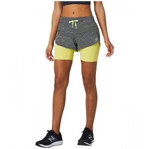 New Balance Printed Impact Run 2-in-1 Shorts Black Multi