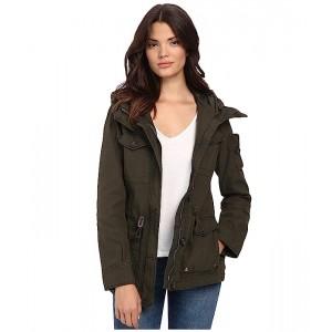 Washed Cotton Fashion Four-Pocket Military w/ Hood