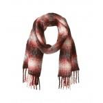 Alpaca Blend Ombre Plaids Blanket Wrap Americana Red/Cream
