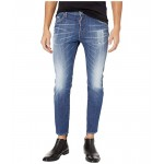 DSQUARED2 I u003C3 D2 Skater Jeans in Blue Blue