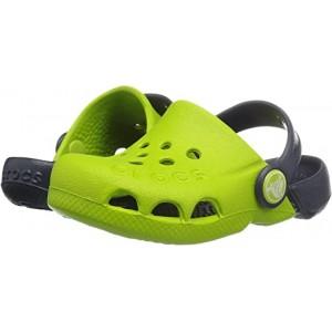 Crocs Kids Electro (Toddleru002FLittle Kid) Volt Green/Navy