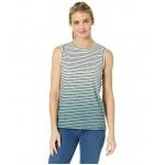 Striped Dip-Dye Tank Top TNF White/Storm Blue
