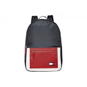 Carter Nylon Backpack Navy/Red/White