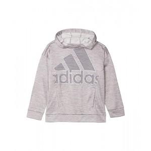 adidas Kids Tunic Fleece Hooded Pullover (Toddleru002FLittle Kids) Grey Heather