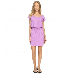 Short Sleeve Impulse Dress Sweet Violet Stripe (Prior Season)