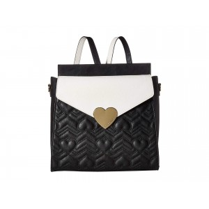 Heartbeat Quilt Backpack Black/Cream