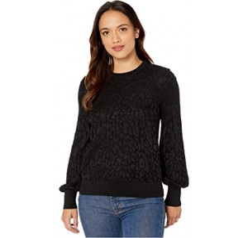 Petite Long Sleeve Sweater Polo Black