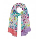 Painted Petals Oblong Scarf