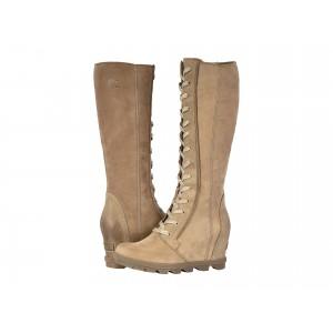 Joan of Arctic Wedge II Tall Ash Brown Full Grain Leather/Nubuck Combo