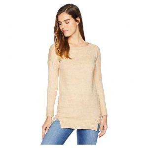 Side Stitch Sweater Camel