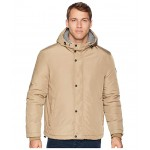 Oxford Rain Zip Front Jacket Khaki