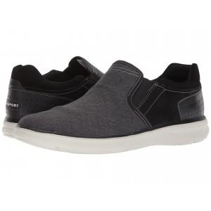 Zaden Gore Slip-On Black Leather w/ Textile