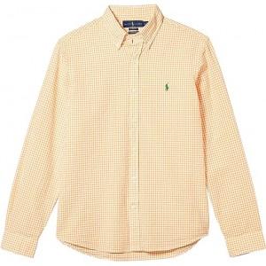 Polo Ralph Lauren Classic Fit Seersucker Shirt Orange