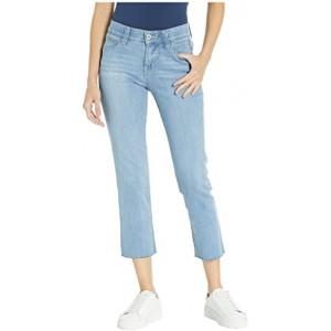 Ruby Straight Denim Crop Pants in Island Blue Island Blue