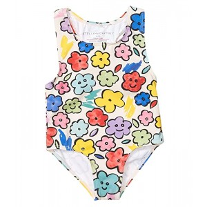Stella McCartney Kids Smiling Flowers Swimsuit (Infant) Multi