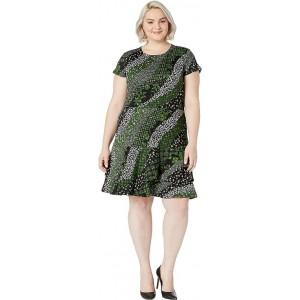 Plus Size Bias Collage Double Tier Dress