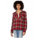Volcom Plaid About You Long Sleeve Deep Red