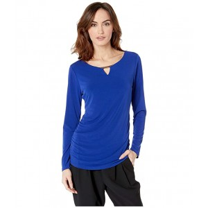 Long Sleeve with Ruching and Hardware Ultramarine