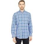 Polo Ralph Lauren Classic Fit Long Sleeve Oxford Shirt Blue Mini Check