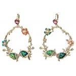Sea Life Gypsy Hoop Earrings