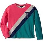 French Terry T Crew Sweatshirt (Big Kids)