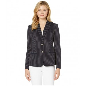 Stripe Two-Button Sweatshirt Jacket Midnight Multi
