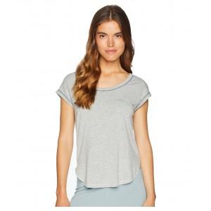 Short Sleeve Pajama Top Light Heather Grey