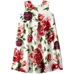 Knit Peonie Print Dress (Big Kids)