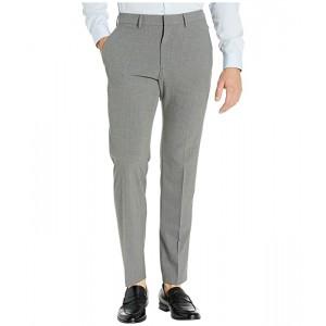 Kenneth Cole Reaction Stretch Pinstripe Slim Fit Flat Front Dress Pants Dark Grey