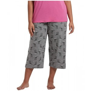 Plus Size Sweet Kitty Capris PJ Pants