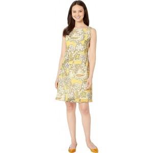 Chiffon Sleeveless Bias Cut Trapeze Dress Sunbeam Multi