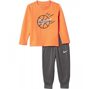 Nike Kids Dri-FIT Thermal T-Shirt and Pants Two-Piece Set (Toddler) Iron Gray