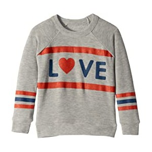 Extra Soft Love Stripes Long Sleeve Pullover Sweater (Toddler/Little Kids)
