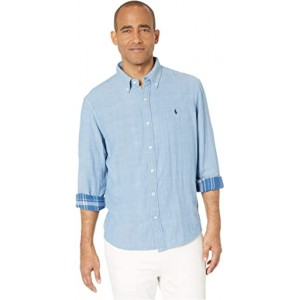 Double Face Button-Down Shirt Chambray