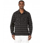 Black/White Grid Shirt Jacket