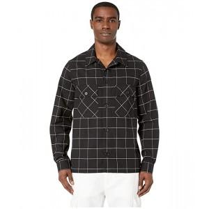 Black/White Grid Shirt Jacket