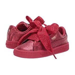 Basket Heart Holiday Glamour Inf (Toddler) Ribbon Red/Rose Gold