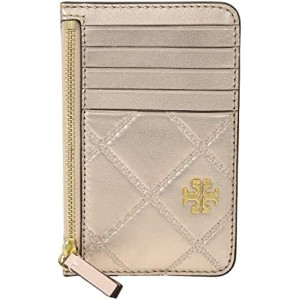 Georgia Metallic Card Case Rose Gold