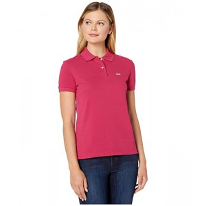 Short Sleeve Two-Button Classic Fit Pique Polo