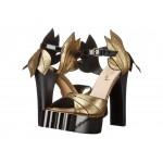 Aphrodite Beast Sandal Gold/Black