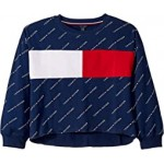 Tommy Logo Crew French Terry Sweatshirt (Big Kids)