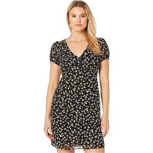 Tossed Lilies V-Neck Dress