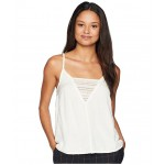 Color Spaces Woven Tank Top Marshmallow