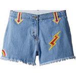Marlin Cut Off Denim Shorts w/ Patches (Toddler/Little Kids/Big Kids)