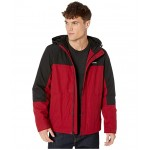Rain Shell Jacket w/ Fleece Lining Red/Black