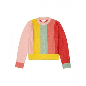 Lurex Knit Cardigan with Stripes (Toddler/Little Kids/Big Kids)