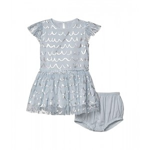 Short Sleeve Tulle Dress with Shell Foil Early (Infant)