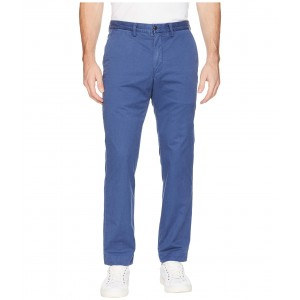 Cotton Stretch Twill Bedford Flat Pants Rustic Navy