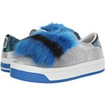 Marc Jacobs Empire Multicolor Sole Sneaker with Faux Fur Silver Multi